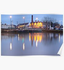 Bristol Harbour at Night Poster