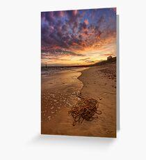 Beach - Sunset Greeting Card