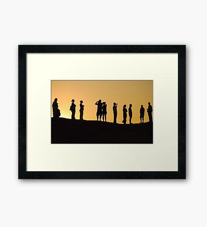 Sinai Sunset Framed Print