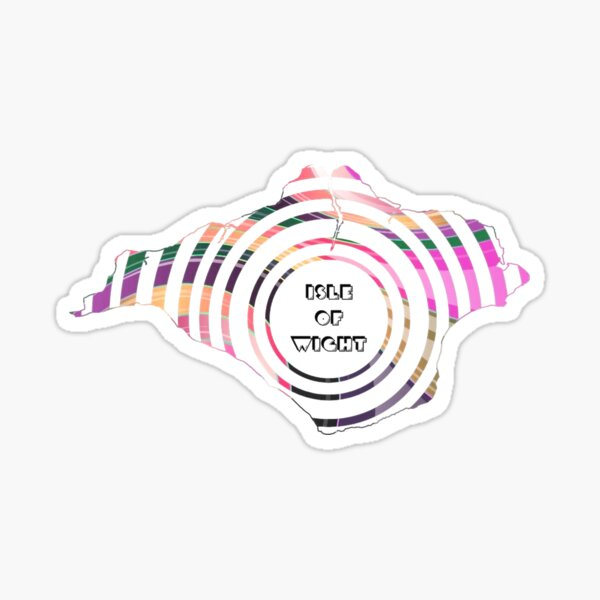 Isle of Wight Mandala Sticker