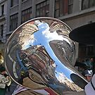 reflection at Veterans Parade by Kodachrome 25 ASA