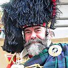 Drum Major at Vets parade by Kodachrome 25 ASA