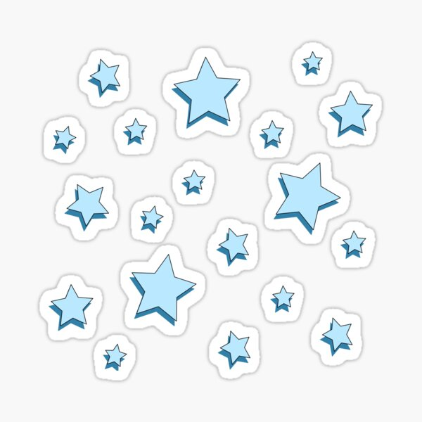 Pastell Blue Stars Pack Sticker