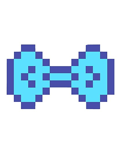 Blue Pixel Bow by kurarissasan