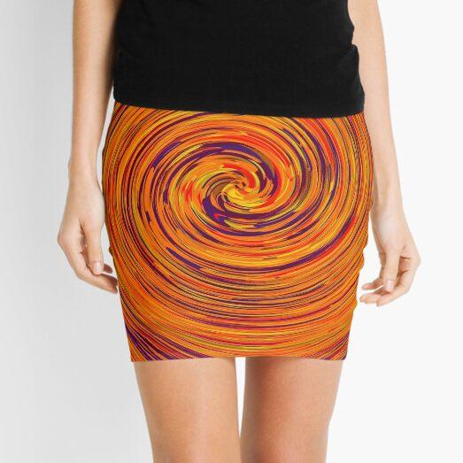 Trippy Psychedelic Swirl Pattern  Mini Skirt