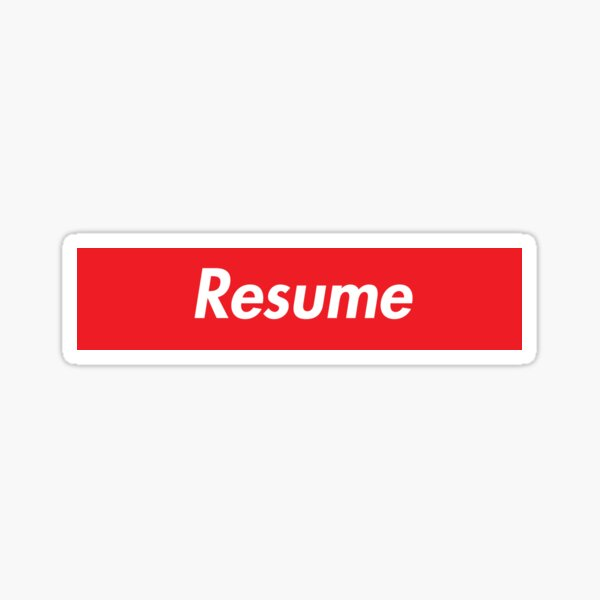 Resume Stickers Redbubble