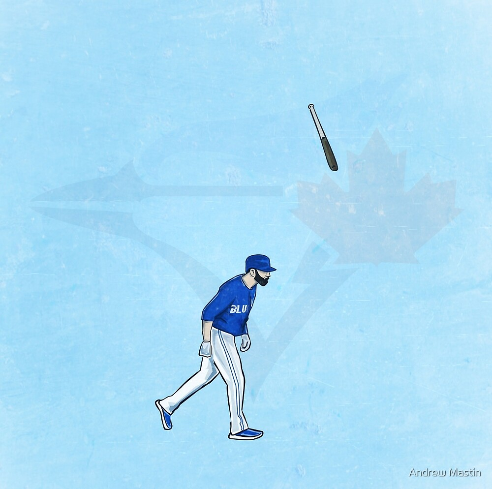 Jose Bat Flip. by Andrew  Mastin