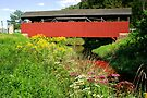 The Historic Buttonwood Covered Bridge In September by Gene Walls
