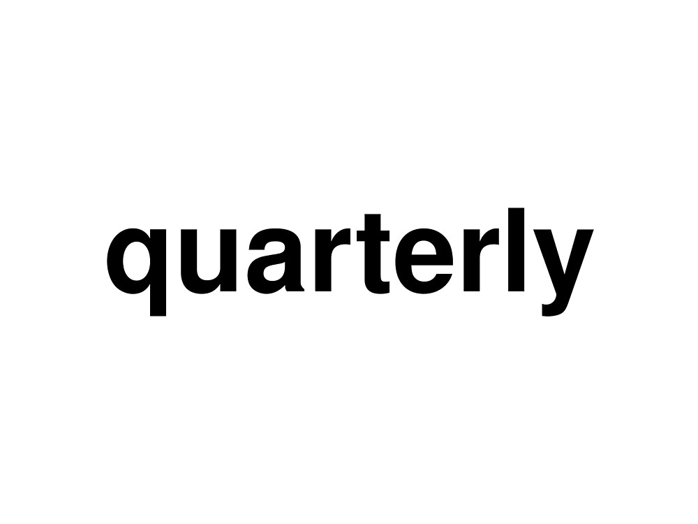 quarterly by ninov94