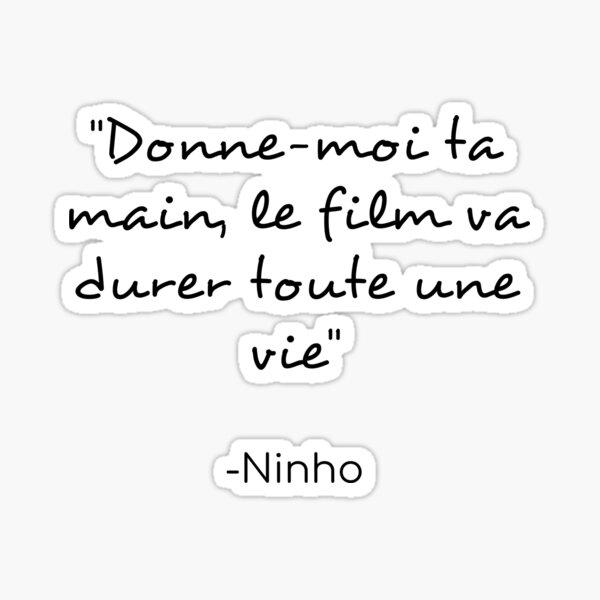 Citation de Ninho Sticker