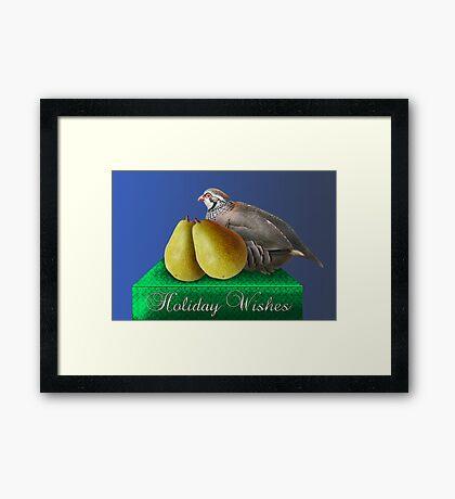 A Patridge and Pears Framed Print