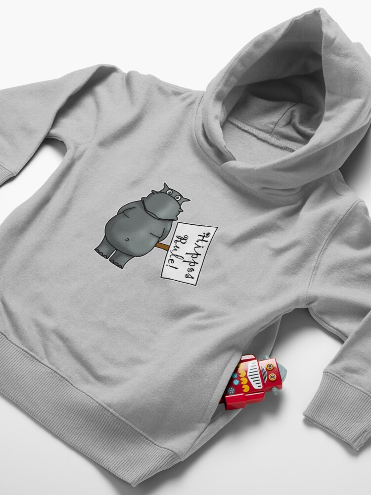 Alternate view of Hippos Rule Toddler Pullover Hoodie