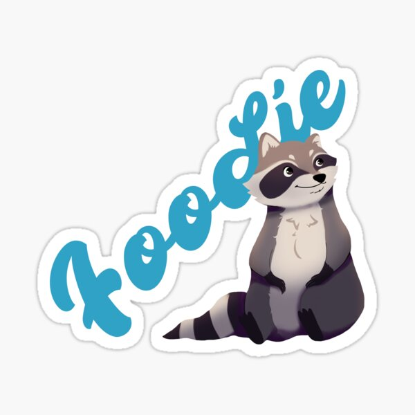 Raccoon Foodie Trash Panda Takeout Sticker