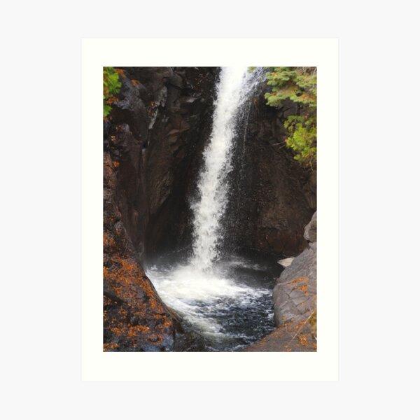 Cascade River Falls Art Print