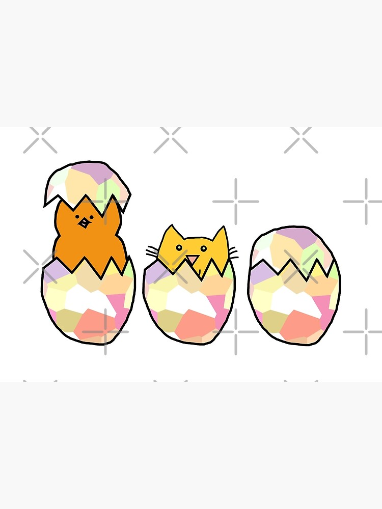 Easter Eggs - Cat among the Chickens by ellenhenry