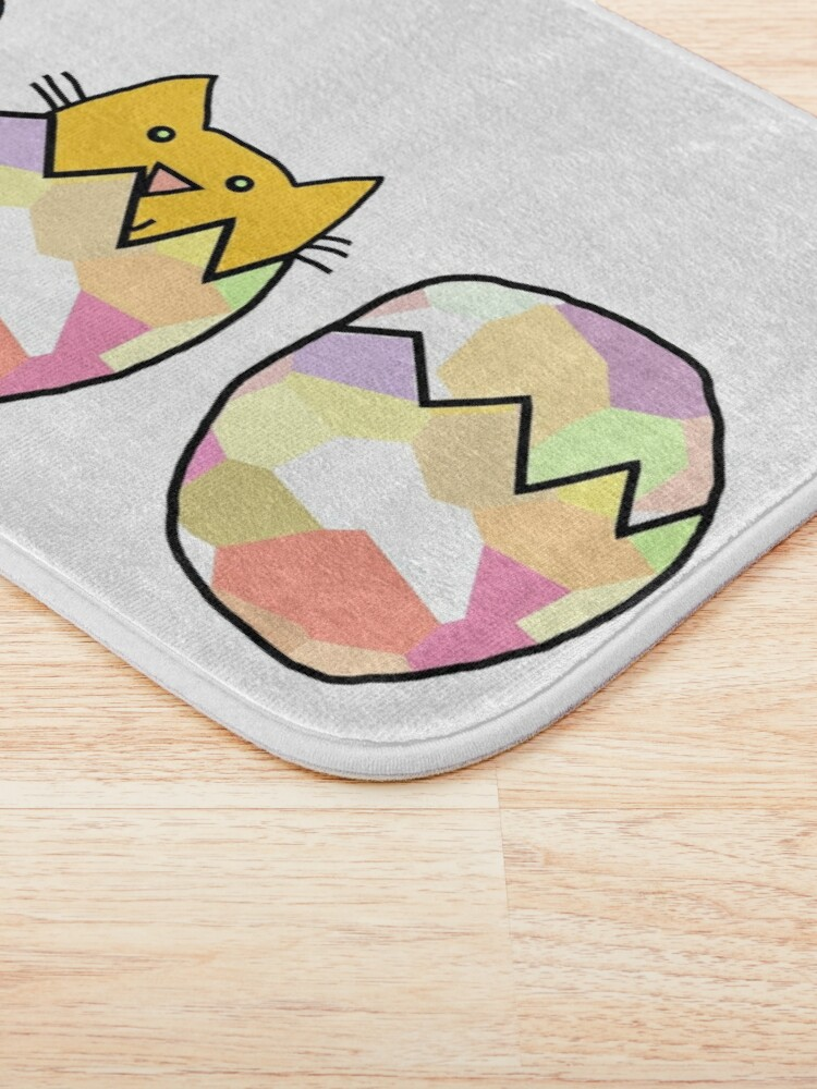 Alternate view of Easter Eggs - Cat among the Chickens Bath Mat