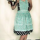 Pin Up Housewife on checkered floor by DariaGrippo