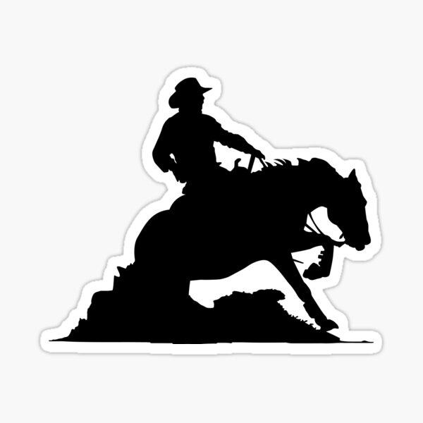 Sliding Stop Western Riding Reining Gift Sticker