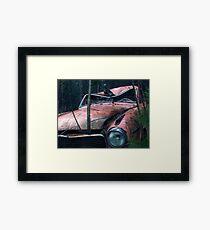 11.11.2011: Crowing through the Car Framed Print
