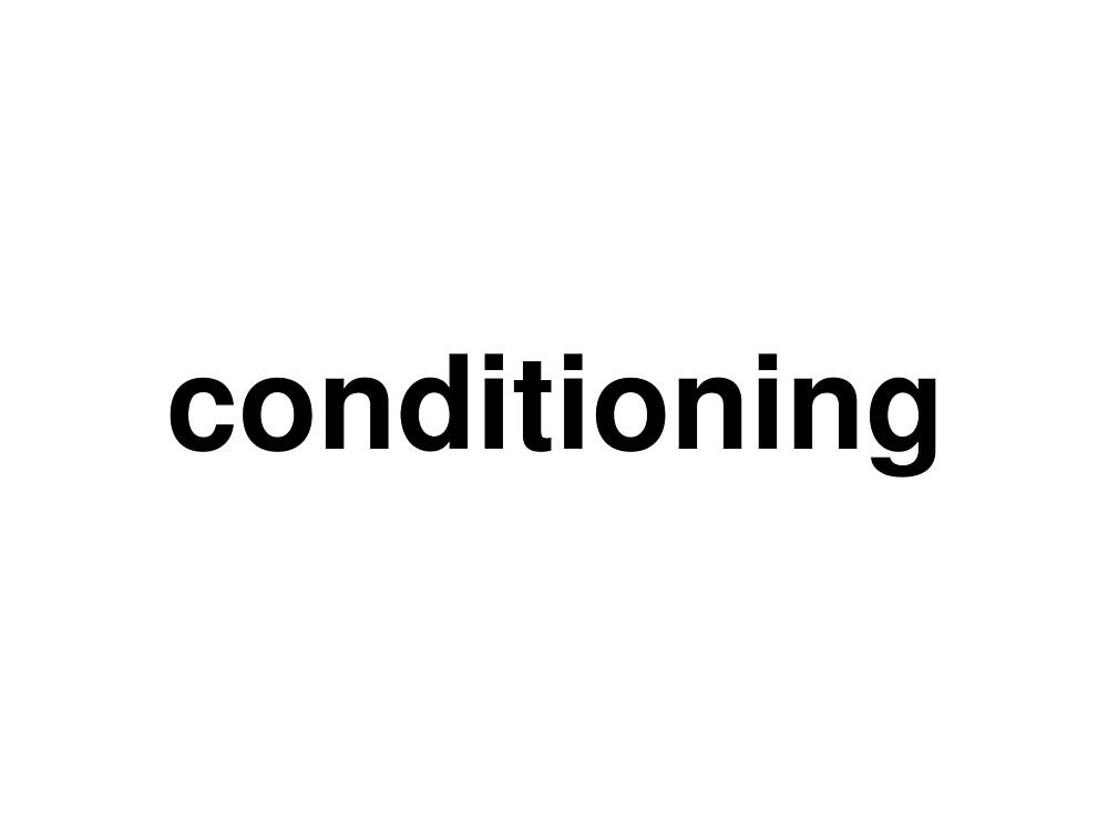 conditioning by ninov94