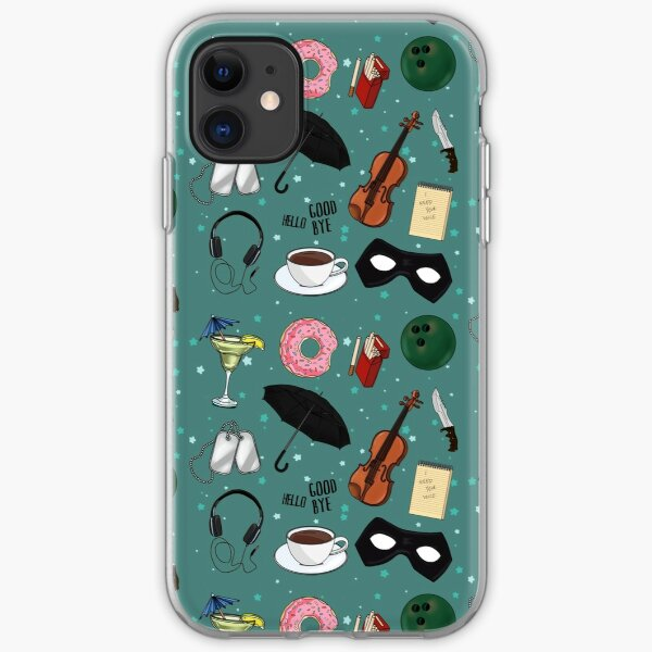 The Umbrella Academy Collage [in Green] iPhone Soft Case