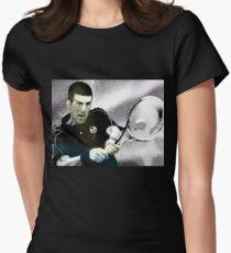 novak djokovic (silver) by byer Women's Fitted T-Shirt
