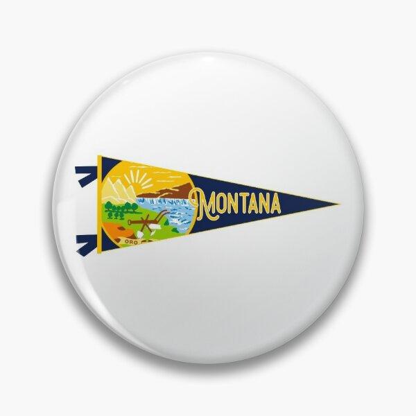 Montana Helena USA Fan Metall Button Badge Pin Anstecker 0048