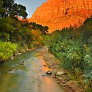 Sunset at Springdale - Utah by Greg Earl
