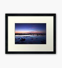 Moss Beach Reflection Framed Print