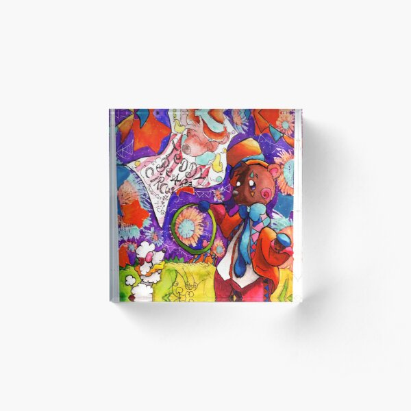 The Circus Is In Town ( art prints) Acrylic Block