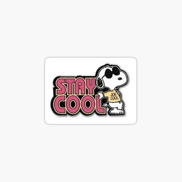 stay cool with snoopy design Sticker