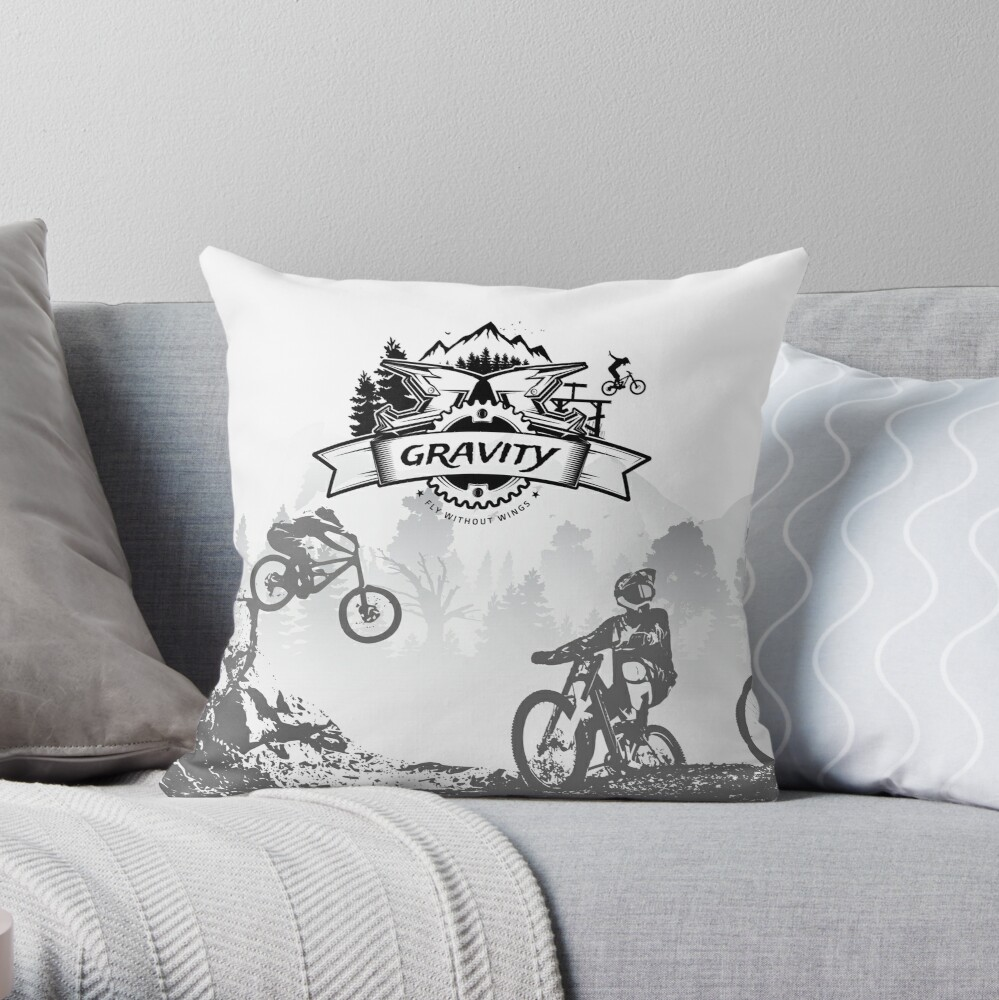 Fly without wings. Throw Pillow