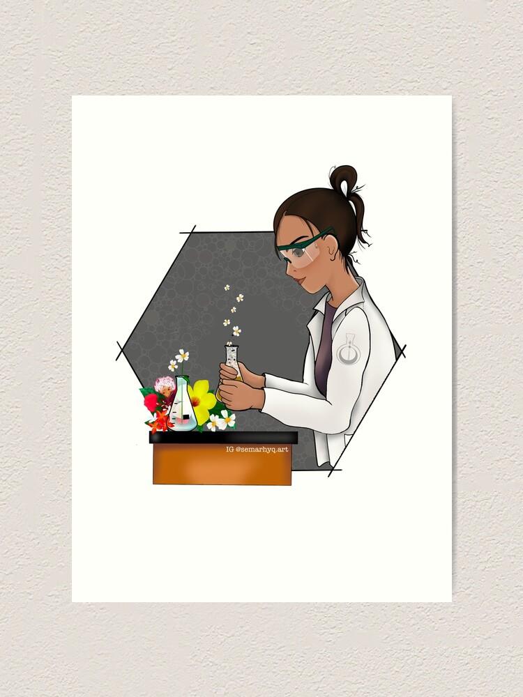 Alternate view of Science Blooms Art Print