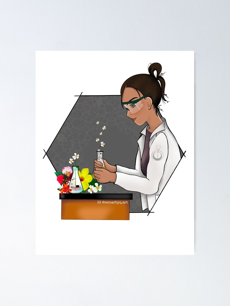 Alternate view of Science Blooms Poster