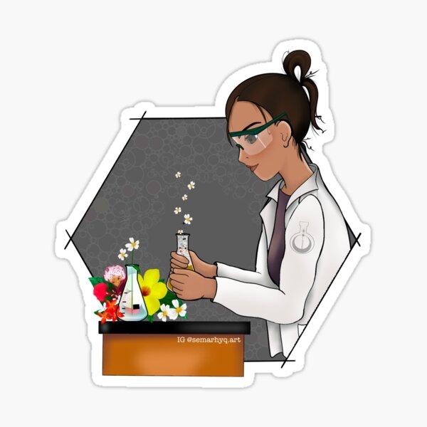 Science Blooms Sticker