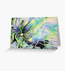 Axion of Evil - Watercolor Painting Greeting Card