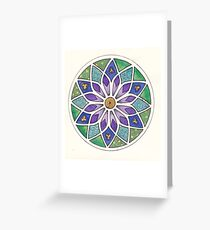 Zentangle Stain Glass Greeting Card