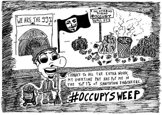 Occupy Sweep editorial cartoon by bubbleicious