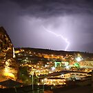 Lightning over Goreme by Christine Oakley