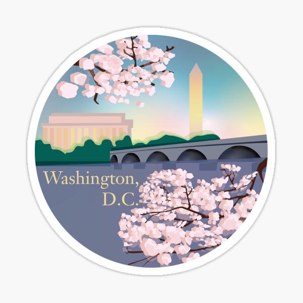 Washington, D.C. Illustration  Sticker