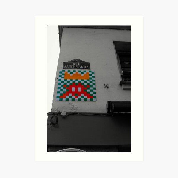 Space Invader 4 Art Print