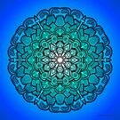 Mandala Drawing 21 BLUE Prints, Cards & Posters by mandala-jim