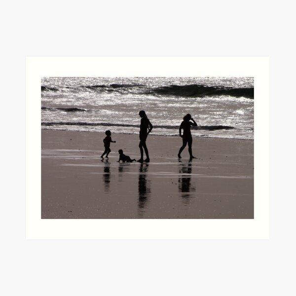 At The Beach Art Print