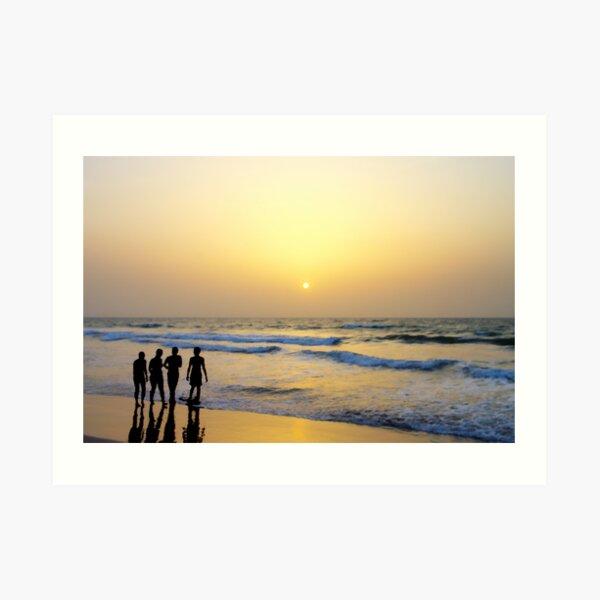 West African Sunset Art Print