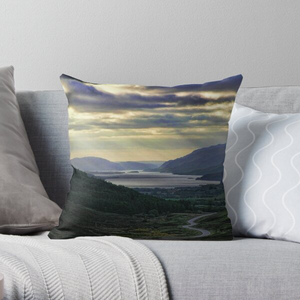 Looking West-To Loch Maree in the Highlands of Scotland(2) Throw Pillow