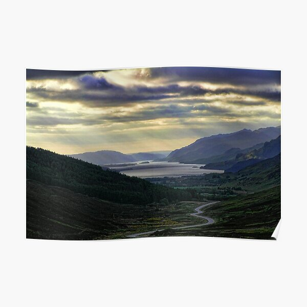 Looking West-To Loch Maree in the Highlands of Scotland(2) Poster