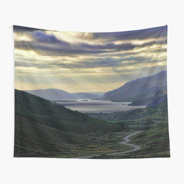 Looking West-To Loch Maree in the Highlands of Scotland(2) Tapestry