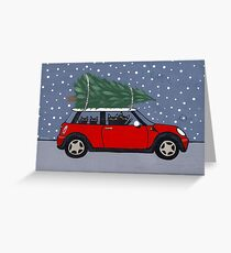 Red Mini Christmas Tree Greeting Card