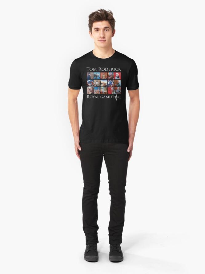Alternate view of Tom Roderick - Royal Gamut Art Slim Fit T-Shirt