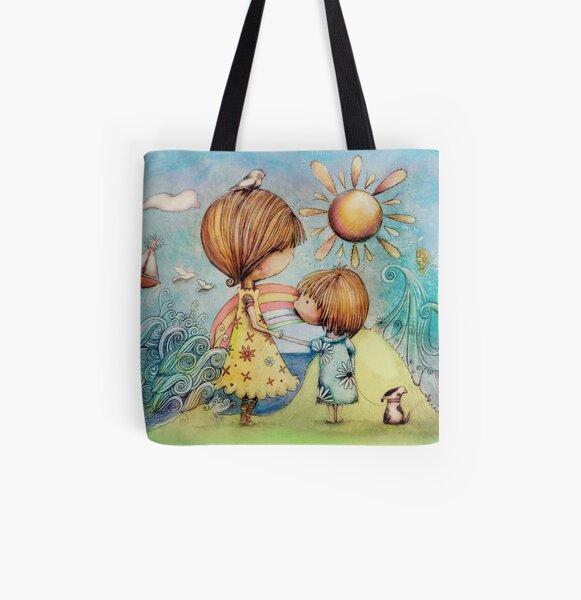 sun and sea All Over Print Tote Bag